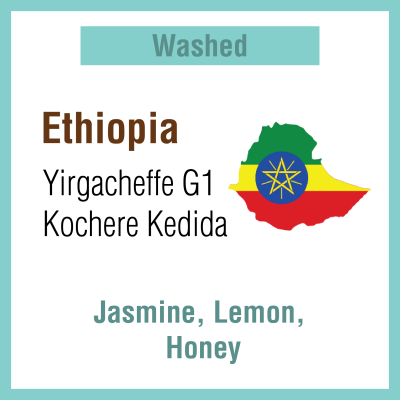 ETHIOPIA Yirgacheffe G1 Kochere Kedida (Washed Process)