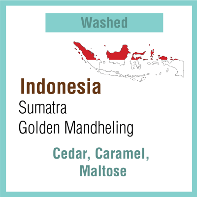 Indonesia Sumatra, Golden Mandheling
