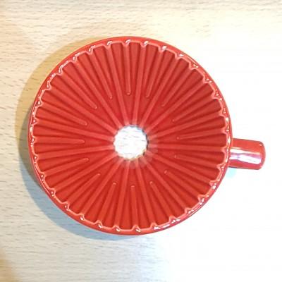 日本製 星芒濾杯-極 波佐見燒 M1錐形陶瓷濾杯 (珈果紅)