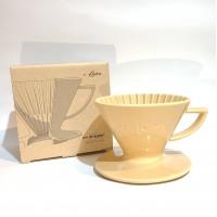 日本製 星芒濾杯-極 波佐見燒 M1錐形陶瓷濾杯 (吉蛋黃)